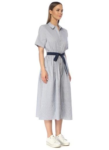 NetWork Kadın 1073423 Kemer Detaylı Midi Elbise Lacivert